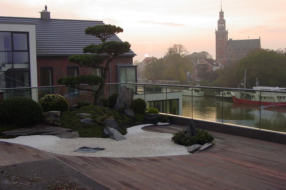 Japanischer Garten Auf Dachterrasse, Traumhaftes Wohnen Im ... Garten Auf Der Dachterrasse